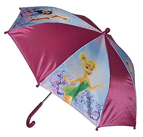 m Disney Fairies Tinkerbell - Kinderschirm 56 cm lang - für Kinder Stockschirm Schirm - Mädchen Schirm Fairy Feen Kinderregenschirm ()