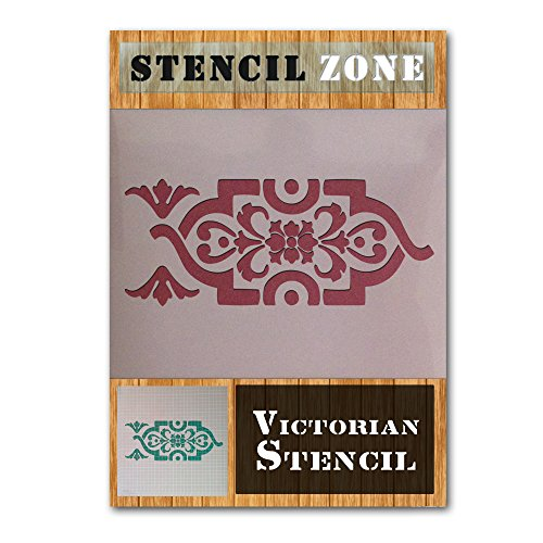 Victorian Wiederholungs-Muster Vintages Shabby Chic-Mylar Malerei Wall Art Schablone (A4 Größe Stencil - Small) Victorian Tool