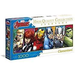 Clementoni-Disney Panorama Collection The Avengers Puzzle, 1000Piezas (39442