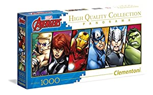 Clementoni - Disney Panorama Collection The Avengers Puzzle, 1000 Piezas (39442