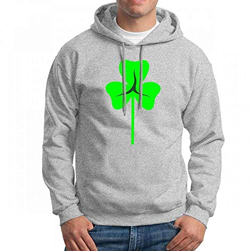 ruziniujidiangongsi Men's Sweatshir New Shamrock Trendy Custom Mens Hoodies