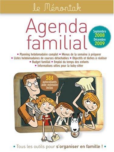 Agenda familial Mémoniak 2009