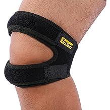 """rodillera ajustable para correr y camino, 11 """" - 18 ajustable, color negro, 1 pieza"""
