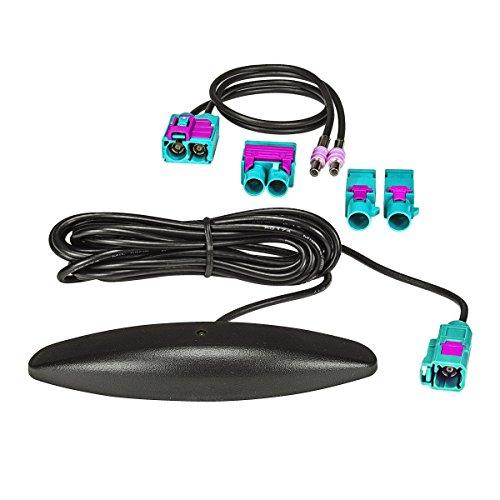 tomzz Audio ® 1000-038 Fakra Zusatz-Scheibenantennenset mit Verstärker AM FM für VW Seat Skoda, Zenec