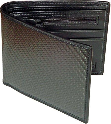 Klixxo Kohlefänger | Schlanke und elegante Geldbörse für Herren aus Carbonfaser und Leder mit NFC/RFID Blocker