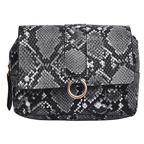 LILIHOT Brusttasche mit diagonaler Kreuztasche der Modedame Schlangenmuster Fashion Frauen Karriere Handtasche kariert Kette Tasche Umhaengetasche Mode-Strasse Damentaschen (Kipling Karriere)