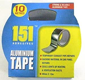 48MM X 10M ADHESIVE ALUMINIUM FOIL TAPE PIPES...