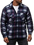 Herren Fleece Jacke Holzfäller Hemd Thermo Sweat Shirt Jacke Flanell Gefüttert H2070 Blau-2 L