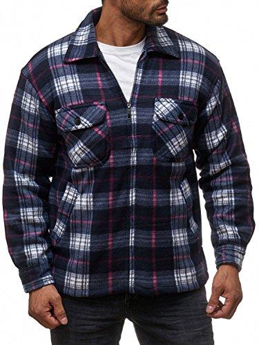 Herren Fleece Jacke Holzfäller Hemd Thermo Sweat Shirt Jacke Flanell Gefüttert H2070