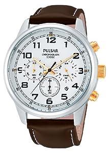 Reloj Pulsar Uhren PT3259X1 de cuarzo para hombre con correa de piel, color marrón de Pulsar