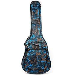 """Housse de protection Bray camouflage rembourrée pour guitare acoustique Yamaha F310, F310T, F370, Epiphone DR-100, EJ-200SCE & Ibanez V50NJP-NT, Ts-Ideen avec poignées et sangles d'épaule (41"""")"""