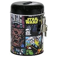 Star Wars salvadanaio con lucchetto in metallo, dimensioni: altezza 11centimetri x diametro 7,5, nuovo, licenza ufficiale,