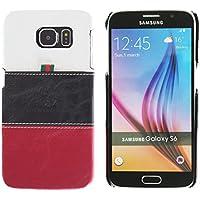 3Q Cover Galaxy S6 Custodia Samsung S6 Novità maggio 2016 Top Design esclusivo Svizzero Custodia Galaxy S6 Bianco Nero Rosso