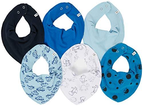 Care Baby Halstücher,Mehrfarbig (Light Dusty Blue 710), One Size (Herstellergröße:OneSize), 6er-Pack