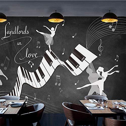 eten Retro Vintage Ballett Kostüm 3D Wand Wohnzimmer Sofa TV Hintergrund Wand Wasserdichte Fresko 3D Tapeten 300x210 cm ()