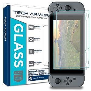 Tech Armor – Premium Displayschutz aus Panzerglas für Nintendo Switch – 2 Stück