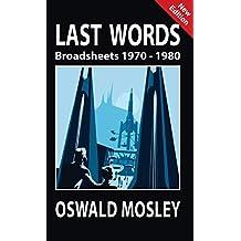 Last Words: Broadsheets 1970-1980