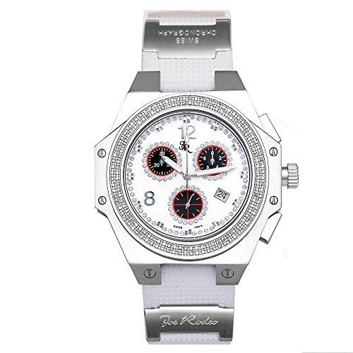Joe Rodeo Diamond Men's Watch - SHAPIRO silver 1.5 ctw