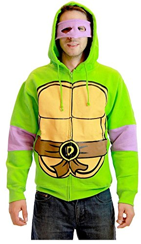Teenage Mutant Ninja Turtles Donatello Kostüm Erwachsene Hooded Sweatshirt ()