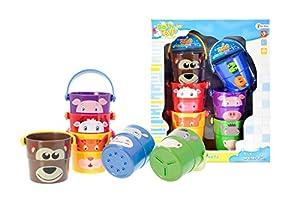 Toi-Toys-Cubos para apilar en Caja Ventana Juego de Playa, 71125a, Multicolor