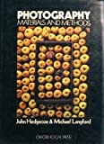 Photography: Materials and Methods (Handbooks for Artists) by John Hedgecoe (1971-05-27)