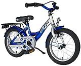 Bikestar Premium Sicherheits Kinderfahrrad 16 Zoll für Jungen und Mädchen ab 4-5 Jahre ★ 16er Kinderrad Classic ★ Fahrrad für Kinder Silber & Blau