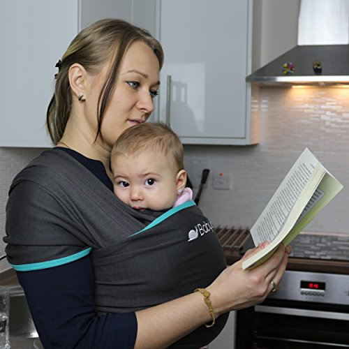 Ergonomisches Babytragetuch | Bio-Baumwolle | Für Neugeborene & Kleinkinder geeignet | Einheitsgröße | Bequemer & beruhigener Stoff für Babys | Die Babyboon Tragehilfe fördert die Bindung von Eltern und Kind | JETZT TESTEN! - 5