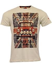 Brave Soul Shirt pour Hommes Marque Original Mini Cooper Imprimé Manches Courtes Été