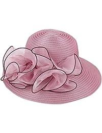 Sombrero con Flor Grande para Mujer De Vestir O De Playa 6044076e86b