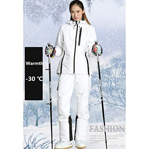 GJBXP Frauen Snowboard Ski Jacke + Hosen Winddicht Wasserdicht Verdicken Thermische Outdoor Sport Tragen Camping Reiten Skianzüge 42