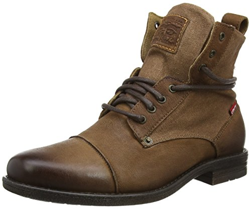 Levi's Herren Emerson Biker Boots, Braun (Medium Brown 2), 40 EU