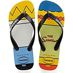 Havaianas Simpsons, Chanclas para Unisex Adulto, Multicolor (White/black), 39/40 EU (37/38 Brazilian)