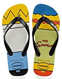 Havaianas Simpsons, Infradito Unisex Adulto, Multicolore (White/Black), 37/38 EU