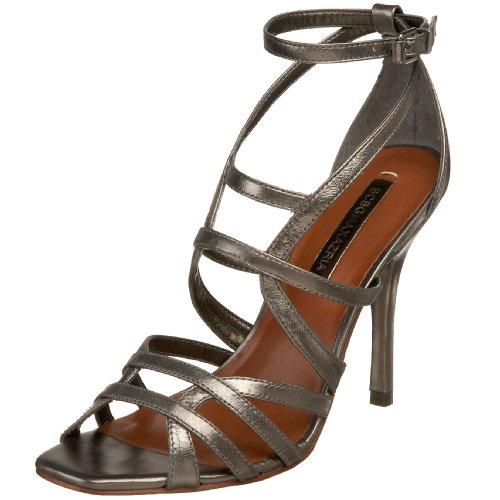 BCBG Max Azria Akira Damen Leder Sandale Anthracite