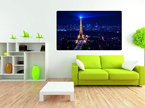 Eifelturm Paris 3D Look Wandtattoo 70 x 115 cm Wanddurchbruch Wandbild Sticker Aufkleber DesFoli © R266 (Land-wand-dekor-aufkleber)