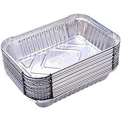 Yardwe Barquettes Aluminium Accessoire de Barbecue Lot de 10 (570ml)