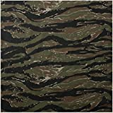Bandana camouflage woodland camo strip tiger armée us usa paintball airsoft chasse peche