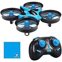 REDPAWZ Drone Enfant, JJRC H36 Mini Drone avec Les Fonction sans tête, Retournement 3D,RC Quadcopter Drone Jouet Cadeau pour Enfants et Débutant - Bleu