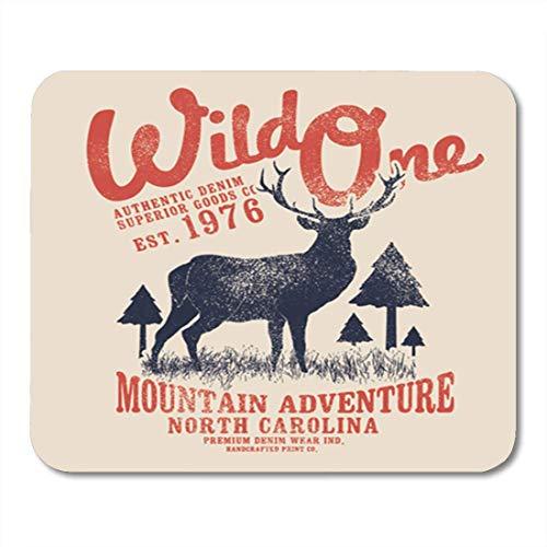 Gaming Mauspad Camp Vintage Tee Deer Drawn Carolina Christmas Reindeer Wild Animal 11.8