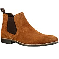 Red Tape Stockwood Tan Suede Classic Chelsea Boots