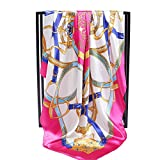 MONEYY The Korean version of silk scarf female spring and autumn wild large comfortable and classy towel silk scarf female winter shawl long beach towel 90*90cm