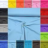"Interlock Jersey UNI ""Micha"" / 100% Baumwolle / Qualitäts-Stoff / Meterware ab 50cm (15. Altblau)"