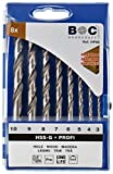 Bohrcraft Holzspiralbohrer Set Profi HSS-G HP 80/Ø 3-10 x 1,0 mm/8-teilig/3110 14 30008