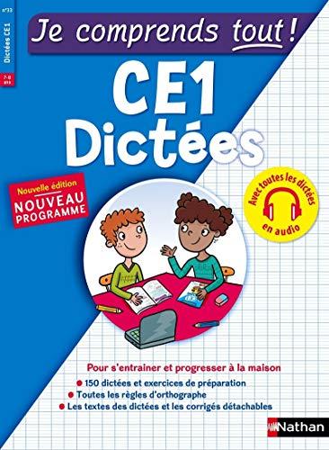 Dictées CE1 - 150 dictées avec audio et des exercices de préparation - Je comprends tout niveau CE1 par Isabelle Petit-Jean