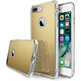Funda iPhone 7 Plus, Ringke [FUSION MIRROR] Reflexión brillante radiante de lujo Espejo parachoques [Protección gota/ Choque tecnología de la absorción] para Apple iPhone 7 Plus 2016 - Royal Gold