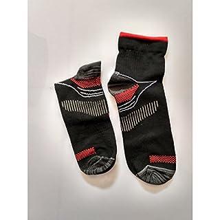Alamor 3er Pack Kompression Socken für Damen und Herren Sport Socken Gesundheit atmungsaktiv Komfort gestrickt Mehrfarbig, schwarz/rot, S/M
