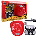 Giplar Feuerwehr Ausrüstung Spielzeug - 4 Teilig Kleinkind Kostüm Fasching Accessories