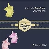 2x Eiswürfel Einhorn Unicorn Silikon Form Design in pink / 12 Stück rießig Eiswürfelformen, Silikonform & Eiswürfelschalen Backformen & Backen für Kinder von TK Gruppe Trend 2017 Geschenkidee -
