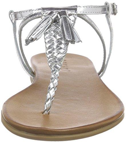 Inuovo - 6188, Scarpe col tacco con cinturino a T Donna Argento (Argento (Silver))