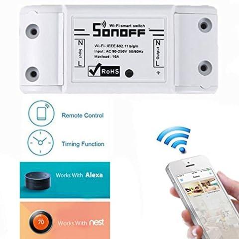 Snoff Wifi Wireless App kontrolliert DIY Smart Switch Modul ABS Shell Sockel für DIY Home Support Fernbedienung
